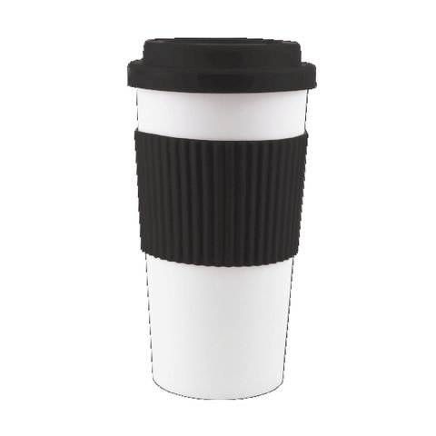Black & White Insulated Double Wall Car Travel Cup